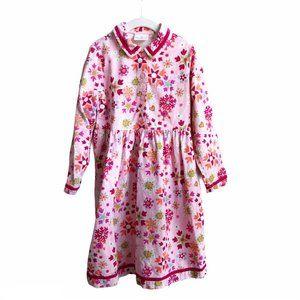 Hanna Andersson Corduroy Pink Snowflake Dress